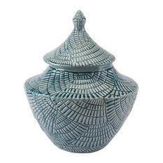 Zuo Decor Ceramic Jar, Mint