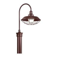 Circa 1910, Outdoor Post Lantern, Old Rust Finish