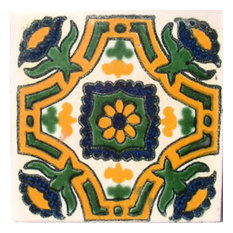 "4""x4"" Mexican Ceramic Handmade Tile #C042"