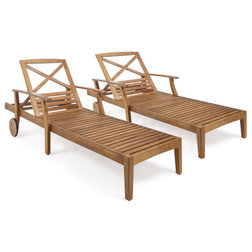 Transitional Outdoor Chaise Lounges by GDFStudio