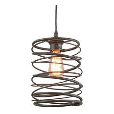 LNC 1-Light Contemporary Ceiling Light Rust Pendant Lighting