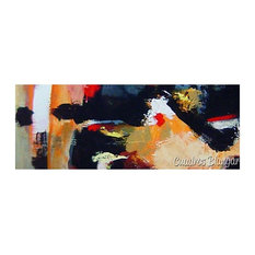 Cuadros Blangar - Colorful Panoramic Abstract Canvas Painting, 180x60 cm - Prints & Posters