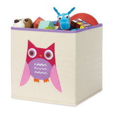 """Whitmor 10"""" Lx10"""" Wx10"""" H Pink Owl Square Tote"""