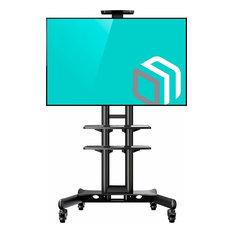 """ONKRON Mobile TV Stand TV Cart with wheels & 2 AV Shelves for 32"""" - 65 inch LCD"""