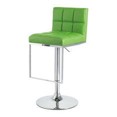 Vandue Corporation   Alex Contemporary Adjustable Bar Stool, Lime Green    Bar Stools And Counter