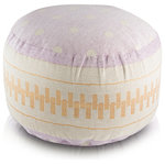 Pyar & Co - Nondi Lavender Pouf - A delightfully sweet Macaroon-like pouf features pops of playful polka-dots.