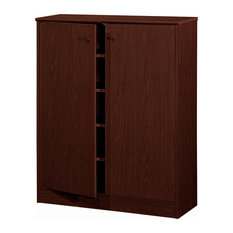 Smart Home Arctic 5 Tier 5 Shelves Modern Shoe Cabinet, Red Cocoa