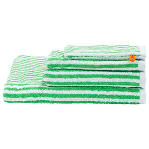 Stripes Summer Towel Collection, Classic Green