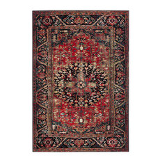 Safavieh Vintage Hamadan Collection VTH215 Rug, Red/Multi, 8' X 10'
