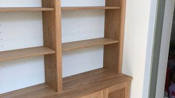 Kenton oak book case