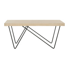 Amos Retro Mid-Century Wood Coffee Table