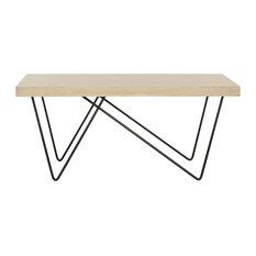 Amos Retro Mid-Century Wood Coffee Table