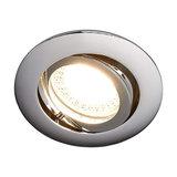 Lisara - LED installed light in chrome, round