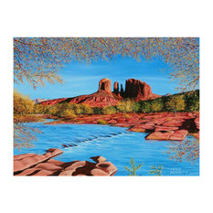 """Mike Bennett Cathedral Rock Art Print, 9""""x12"""""""