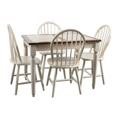 GDFStudio   Walnut Creek 5pc Cottage Dining Set W/ Extending Table   Dining  Sets