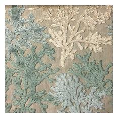 Top Fabric   Reef Coral Cut Velvet Upholstery Fabric, Yard, Laguna    Upholstery