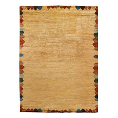 ALRUG Handmade Pakistani Gabbeh Rug, Beige and Tan, 8' x 11' 1""
