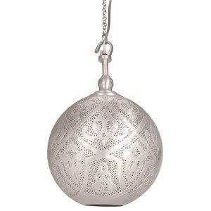 Sahar Brass Hook Pendant With Matte Silver Finish, Small