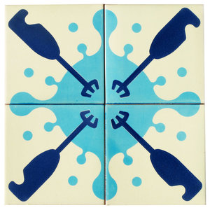 Blender Ceramic Tile Mural, 4 Tiles