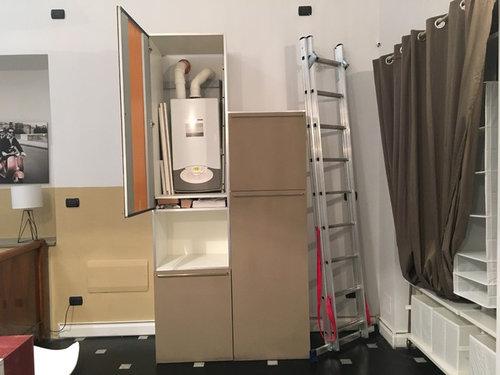 Idee per nascondere una caldaia - Foro nel muro della cucina per normativa gas ...