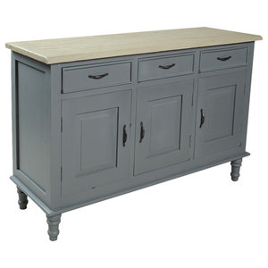 Chateau Storm Grey 3-Drawer Sideboard With 3 Doors