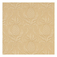 Gold Pineapples Woven Matelasse Upholstery Grade Fabric By The Yard