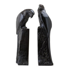 2-Piece Bronze Bookend, Eichholtz Perroquet
