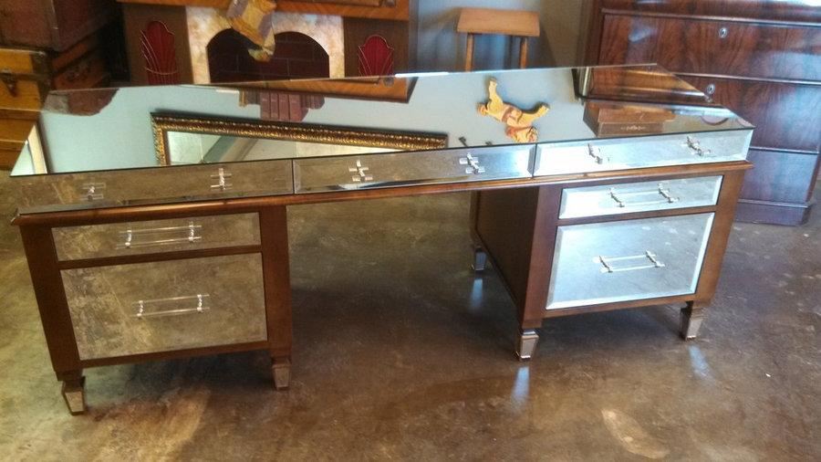 Wood & Mirror Desk