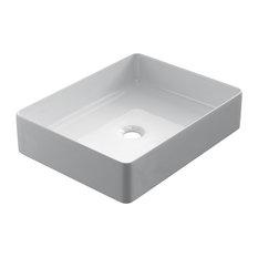 Sleek Ceramic Vessel Bathroom Sink, 47 cm