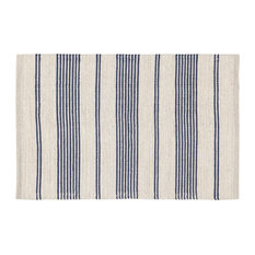 Bay Striped Area Rug, Blue, 60x200 cm