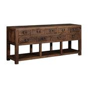 Elmwood Park Reclaimed Elm Wood 9-Drawer Console Table
