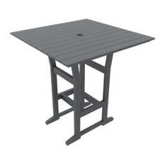 "Cafe Fusion 40"" Square Bar Table, Gray"