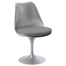 Unique Armchairs And Accent Chairs Knoll Tulip Chair Platinum Base Flint Volo Leather
