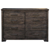 Bodie Traditional Dark Gray 8-Drawer Acacia Wood Dresser
