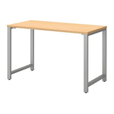 """Bush Business Furniture 400 Series 48"""" x 24"""" Table Desk in Natural Maple"""