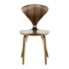 Satine Dining Chair Mid Century Molded Plywood Side Chair American Walnut