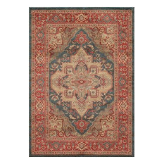 "Ghazni Machine Made Area Rug, Navy, 7'10""x9'10"""