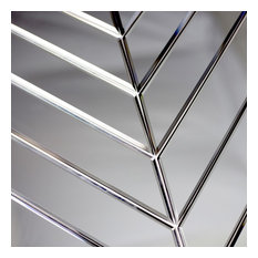 Refelctions Silver 4 in. x 12 in. Glass Mirror Parallelogram Tile, Box of 54 Pie