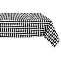 Black And Cream Harlequin Print Tablecloth, 60x84