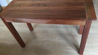 Sapele hardwood table