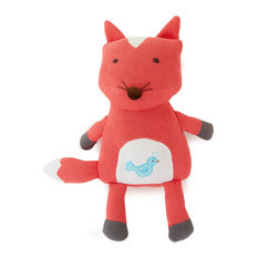 The Little Acorn - Fox Knit Toothfairy Pillow, Orange and Red - Baby and Toddler Toys