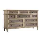 10-Drawer Dresser in Pearl Essence