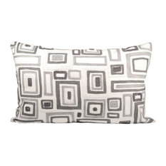 Elk Mondrian 16X26 Lumbar Pillow 904035, Chateau Grey, Crema