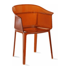 Papyrus Chair by Kartell, Set of 2, Red Orange