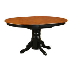 """Avon Oval Table With 18"""" Butterfly Leaf, Black and Cherry Finish"""