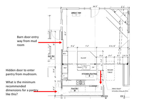 Dimensions For A Walk Through Pantry