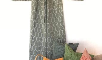 Kimono Cushion, handvävda textilier i ull eller siden, personliga & unika.