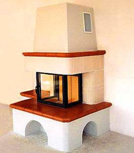 Panoramakamin klassisch mit Keramikkacheln