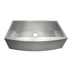 "Golden Vantage 33""x22""x9"" Apron Under Mount Single Basin Kitchen Sink"