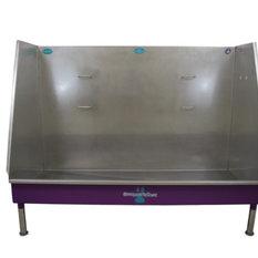 "Walk-In Dog Wash/Stainless Steel Wash, Purple, 58"", Left Drain"